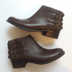 Franco Sarto | Cyan brown leather booties